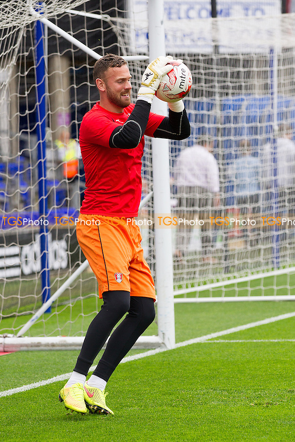 Former Town Keeper Scott Loach needed no introduction to Portman Road - Ipswich Town vs Rotherham United - Sky Bet Championship Football at Portman Road, Ipswich, Suffolk - 27/09/14 - MANDATORY CREDIT: Ray Lawrence/TGSPHOTO - Self billing applies where appropriate - contact@tgsphoto.co.uk - NO UNPAID USE