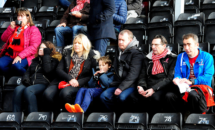 Lincoln City fans enjoy the pre-match atmosphere<br /> <br /> Photographer Andrew Vaughan/CameraSport<br /> <br /> The EFL Sky Bet League Two - Lincoln City v Mansfield Town - Saturday 24th November 2018 - Sincil Bank - Lincoln<br /> <br /> World Copyright © 2018 CameraSport. All rights reserved. 43 Linden Ave. Countesthorpe. Leicester. England. LE8 5PG - Tel: +44 (0) 116 277 4147 - admin@camerasport.com - www.camerasport.com