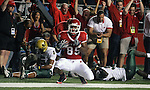 RUTGERS VS SOUTH FLORIDA FOOTBALL.at Rutgers Stadium, Piscataway.. Rutgers# 89 Kevin Brock celebrates his touchdown as South Florida players lay in the background after Brock caught a Jeremy Ito pass from a 4th an long fake field goal play during the 2nd half of play at Rutgers Stadium. I..SPORTS.44840.ON THURS OCT 18,2007.MARK R. SULLIVAN/CHIEF PHOTOGRAPHER