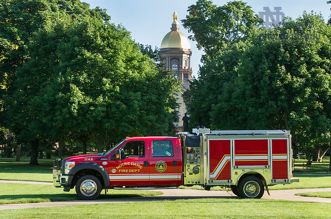 July 9, 2014; New Initial Attack Pumper. (Photo by Barbara Johnston/University of Notre Dame