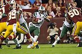 New York Jets wide receiver Andre Roberts (3) returns a kick-off in the first quarter against the Washington Redskins at FedEx Field in Landover, Maryland on Thursday, August 16, 2018.<br /> Credit: Ron Sachs / CNP<br /> (RESTRICTION: NO New York or New Jersey Newspapers or newspapers within a 75 mile radius of New York City)
