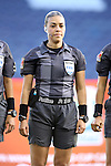 16 October 2014: Referee Melissa Borjas (HON). The Jamaica Women's National Team played the Martinique Women's National Team at Sporting Park in Kansas City, Kansas in a 2014 CONCACAF Women's Championship Group B game, which serves as a qualifying tournament for the 2015 FIFA Women's World Cup in Canada. Jamaica won the game 6-0.
