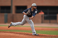 Pulaski Mariners pitcher Luis Pina #57 delivers a pitch during a game against the Greenville Astros at Pioneer Park July 12, 2014 in Greenville, Tennessee. The Mariners defeated the Astros 11-10. (Tony Farlow/Four Seam Images)