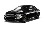 2017 BMW 2-Series M240i 2 Door Coupe Angular Front stock photos of front three quarter view