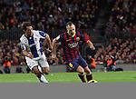 Spain.Barcelona. 01.11.2013<br /> Partido de liga BBVA entre Fc Barcelona- RCD Espanyol<br /> Iniesta Vs Victor S