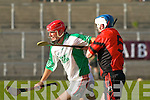 Ballyduff's Barry O'Grady and Ballyheigue's Paudie Moriarty..   Copyright Kerry's Eye 2008