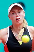 Caroline Wozniacki, Denmark, during Madrid Open Tennis 2018 match. May 7, 2018.(ALTERPHOTOS/Acero) /NortePhoto.com