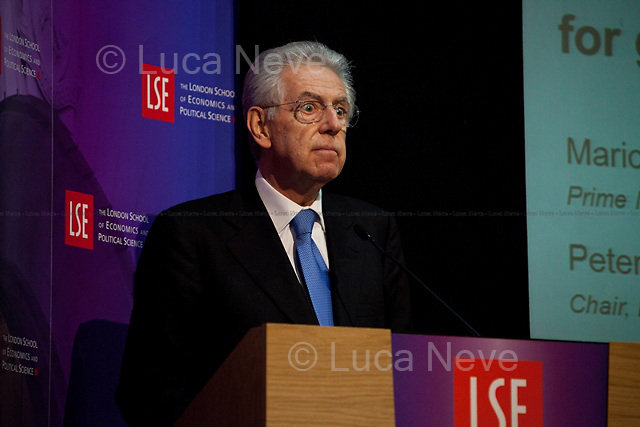 Mario Monti, Italian Prime Minister. <br />