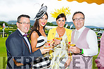 l-r Mark Greer, Killarney, Denise Healy,Killarney, Myra Greer,Tralee and Damien Greer Tralee on Ladies Day at the Killarney Races.