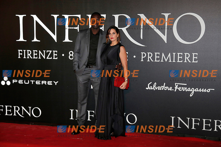 Omari Sy and his wife Helene <br /> Firenze 08-10-2016. 'Inferno' Anteprima Mondiale.<br /> Florence 8th October 2016. 'Inferno' World Premiere.<br /> Foto Samantha Zucchi Insidefoto
