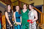 Listowel Community College, St Michael's College, Listowel and Presentation, Listowel, enjoying their Debs at the Brandon Hotel on Thursday night. Picturedl-r  Muireann Carmody, Jeanie Leahy, Fiona Murphy and Muirren O'Connor.