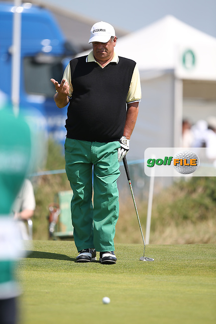 Costantino Rocca (ITA) during Round One of the 2014 Senior Open Championship presented by Rolex from Royal Porthcawl Golf Club, Porthcawl, Wales. Picture:  David Lloyd / www.golffile.ie