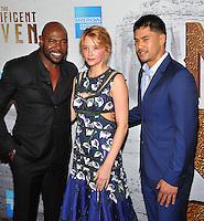 New York, NY- September 19:  Antoine Fuqua, Haley Bennett, Martin Sensmeier attends the 'The Magnificent Seven' New York premiere at Museum of Modern Art on September 19, 2016 in New York City@John Palmer / Media Punch