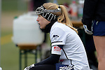 GER - Mainz, Germany, March 20: During the 1. Bundesliga Damen lacrosse match between Mainz Musketeers (white) and SC Frankfurt 1880 (red) on March 20, 2016 at Sportgelaende Dalheimer Weg in Mainz, Germany. Final score 7-12 (HT 3-5). (Photo by Dirk Markgraf / www.265-images.com) *** Local caption *** Christina Kaiser #9 of Mainz Musketeers