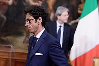 Roma, 4 Maggio 2017<br /> Alberto Calcagno AD Fastweb<br /> Palazzo Chigi,  cerimonia di firma del Protocollo d&rsquo;intesa sui Call Center, con il Presidente del Consiglio Paolo Gentiloni  e il Ministro dello Sviluppo Economico .