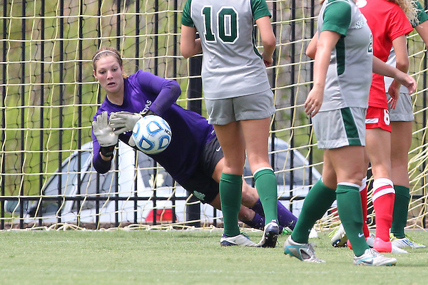 Denton, TX - AUGUST 31:Jackie Kerestine #00 of the University of North Texas Mean Green women's soccer team against University of Houston Cougars at the Mean Green Village Soccer Field on August 31, 2012 in Denton, Texas. NT won 2-1.(Photo by Rick Yeatts)