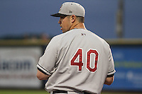 Wisconsin Timber Rattlers pitcher Mark Williams (40) during a Midwest League game against the Quad Cities River Bandits on May 8th, 2015 at Modern Woodmen Park in Davenport, Iowa.  Quad Cities defeated Wisconsin 11-6.  (Brad Krause/Four Seam Images)