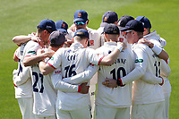 Essex players huddle during Essex CCC vs Nottinghamshire CCC, Specsavers County Championship Division 1 Cricket at The Cloudfm County Ground on 14th May 2019