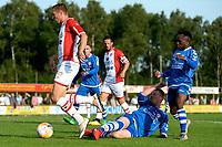 EMMEN - Voetbal, VV Emmen - FC Emmen, voorbereiding seizoen 2018-2019, 07-07-2018,  FC Emmen speler Alexander Bannink ontwijkt een tackle