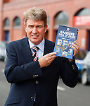 Sandy Jardine with the Rangers Hall of Fame book