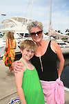As The World Turns Ellen Dolan poses with her daughter Angela during the  12th Annual SoapFest - Actors take a break on the Ramblin' Rose with Ken as the captain on May 14, 2010 on Marco Island, FLA. Just recenly Angela had her hair cut and she game them to Locks of Love. (Photo by Sue Coflin/Max Photos)