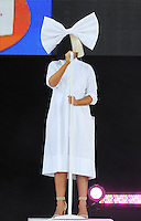 NEW YORK, NY- JULY 22: Sia performs on ABC's Good Morning America Summer Concert Series in New York City on July 22, 2016. Credit: John Palmer/MediaPunch
