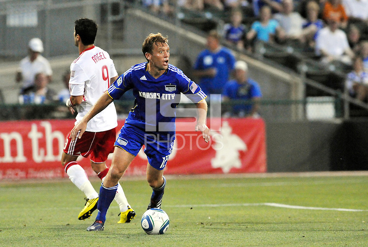 Jimmy Conrad...Kansas City Wizards were defeated 3-0 by New York Red Bulls at Community America Ballpark, Kansas City, Kansas.