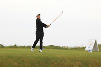 Connor Purcell (Portmarnock) on the 1st tee during Round 1of the Flogas Irish Amateur Open Championship 2019 at the Co.Sligo Golf Club, Rosses Point, Sligo, Ireland. 16/05/19<br /> <br /> Picture: Thos Caffrey / Golffile<br /> <br /> All photos usage must carry mandatory copyright credit (© Golffile | Thos Caffrey)