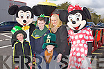PARADE TIME: Mickey and Minnie Mouse getting ready for the Castleisland St Patrick's Day Parade l-r: Jerry Mannix, Liam Bulter, Lena Bulter, Cian Brosnan, Conor Geaney and Killian Bulter.