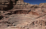 Roman-style theater designed for around 3000 people in the ancient Jordanian city of Petra. Petra is the most visited tourist attraction in Jordan, a symbol of the country for its historical and archaeological importance. It has been a UNESCO World Heritage Site since 1985.