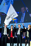 Lille - France- 05 October 2014 --  Euroskills 2014 competition, closing ceremony and medals. -- Handingthe  over of EuroSkills flag to representatives of Göteborg (Gothenburg) Sweden for the 2016 competition.  -- PHOTO: SkillsFinland / Juha ROININEN - EUP-IMAGES