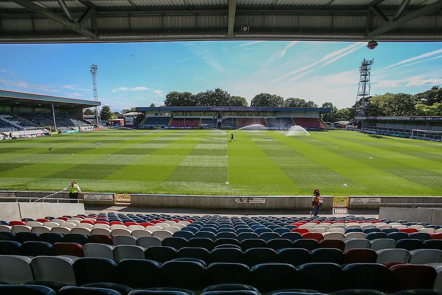 A general view of Spotland Stadium, home of Rochdale<br /> <br /> Photographer Alex Dodd/CameraSport<br /> <br /> The EFL Sky Bet League One - Rochdale v Fleetwood Town - Saturday 17th September 2016 - Spotland - Rochdale<br /> <br /> World Copyright &copy; 2016 CameraSport. All rights reserved. 43 Linden Ave. Countesthorpe. Leicester. England. LE8 5PG - Tel: +44 (0) 116 277 4147 - admin@camerasport.com - www.camerasport.com