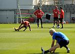 Hoffenheim 26.08.2008, Fu&szlig;ball Bundesliga Training TSG 1899 Hoffenheim, der Trainerstab um Hoffenheims Trainer Ralf Rangnick im Vordergrund  Andreas Beck<br /> <br /> Foto &copy; Rhein-Neckar-Picture *** Foto ist honorarpflichtig! *** Auf Anfrage in h&ouml;herer Qualit&auml;t/Aufl&ouml;sung. Belegexemplar erbeten.