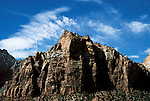 UT: Utah; Zion National Park, Checkerboard Mesa     .Photo Copyright: Lee Foster, lee@fostertravel.com, www.fostertravel.com, (510) 549-2202.Image: utzion213