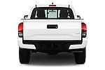Straight rear view of 2016 Toyota Tacoma TRD Sport 4 Door Pick Up Rear View  stock images
