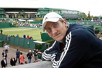 25-6-07,England, Wimbldon, Tennis, Thiemo de Bakker, portrait