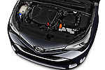 Car Stock 2015 Toyota Avensis Business Executive 5 Door Wagon Engine  high angle detail view