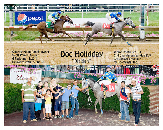Doc Holidday  winning  at Delware Park on 7/28/12
