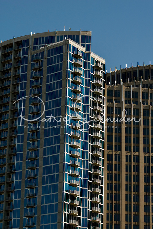 Office and condo buildings in uptown Charlotte, NC.