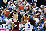 DALLAS, TX - MARCH 31: Dominique Dillingham #00 of the Mississippi State Lady Bulldogs blocks Crystal Dangerfield #5 of the Connecticut Huskies during the 2017 Women's Final Four at American Airlines Center on March 31, 2017 in Dallas, Texas. (Photo by Tim Nwachukwu/NCAA Photos via Getty Images)