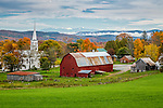 Autumn color in Peacham, Vermont, USA