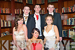(Front)L-R Maira o'Shea,,Jody Coffey and McKenzie Keane(back)L-R Darragh O'Brien,David O'Sullivan and Ger McCarthy all lookin cool for the MountHawk secondary school Debs Ball last friday night in the AbbeyGate Hotel,Tralee..