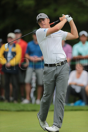 02.09.2013. Boston, Mass, USA.  Jordan Spieth tees off on 1 during the Final Round of the Deutsche Bank Championship at TPC Boston, Norton, MA on September 2, 2013.