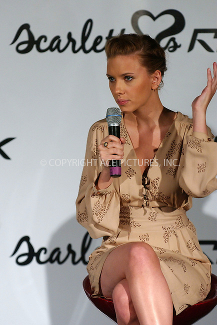 WWW.ACEPIXS.COM . . . . . ....July 25, 2006, New York City. ....Scarlett Johansson appears at press conference to announce her new fashion collaboration with Reebok at X-Change. ......Please byline: KRISTIN CALLAHAN - ACEPIXS.COM.. . . . . . ..Ace Pictures, Inc:  ..(212) 243-8787 or (646) 769 0430..e-mail: info@acepixs.com..web: http://www.acepixs.com