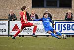 2018-03-11 / Voetbal / Seizoen 2017-2018 / Vosselaar VV - Kapellen / Tom Floren met Nick Kuijlaars (r. Vosselaar)<br /> <br /> ,Foto: Mpics.be