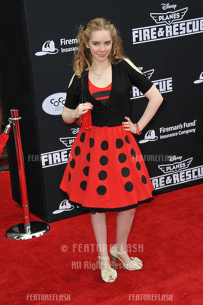 Darcy Rose Byrnes at the world premiere of Disney's &quot;Planes: Fire &amp; Rescue&quot; at the El Capitan Theatre, Hollywood.<br /> July 15, 2014  Los Angeles, CA<br /> Picture: Paul Smith / Featureflash
