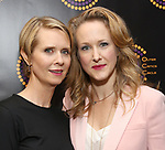 Cynthia Nixon and Katie Finneran attends the 67th Annual Outer Critics Circle Theatre Awards at Sardi's on May 25, 2017 in New York City.