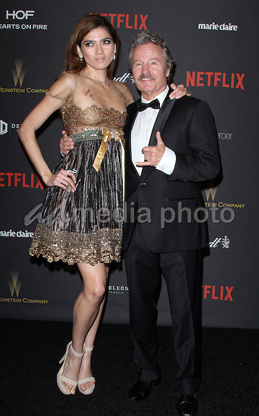 10 January 2016 - Los Angeles, California - Blanca Blanco and John Savage. 2016 Weinstein Company & Netflix Golden Gloves After Party held at the Beverly Hilton Hotel. Photo Credit: AdMedia
