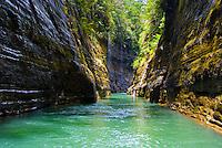 Upper Navua River, River canyon and rainforest and waterfalls, Highlands of Viti Levu Island, Upper Navua River Conservation Area, Fiji