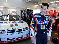 Feb 29, 2008; Las Vegas, NV, USA; NASCAR Sprint Cup Series driver Sam Hornish Jr during practice for the UAW Dodge 400 at Las Vegas Motor Speedway. Mandatory Credit: Mark J. Rebilas-US PRESSWIRE